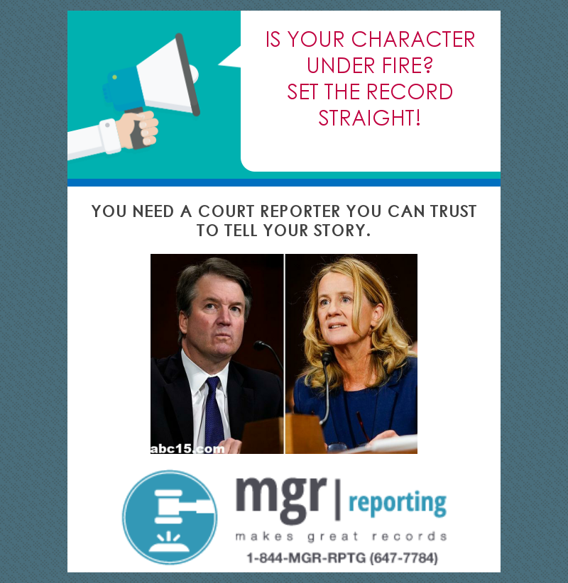 Make sure you have a court reporter you can trust.